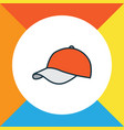 hat colorful outline symbol premium quality vector image