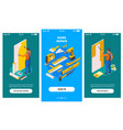 home repair isometric banners vector image