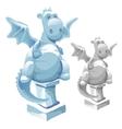 ice statue cute fat dragon in cartoon style vector image vector image