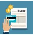 icon invoice design vector image vector image