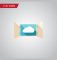 isolated open flat icon cloud element can vector image vector image