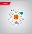 isolated solar system flat icon milky way vector image