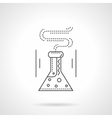Laboratory flask flat line icon vector image vector image