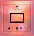 laptop icon symbol vector image vector image