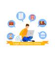 legal advisor online service web banner template vector image vector image