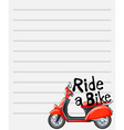 Line paper design with riding a bike vector image vector image