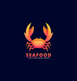 logo seafood gradient colorful style