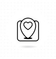 love location icon vector image vector image