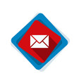 mail button vector image vector image