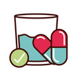 medication prevent spread covid-19 line vector image vector image