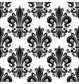 Ornate black fleur-de-lis seamless pattern vector image vector image