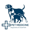Pet clinic logo vector image