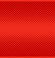 red abstract halftone dot pattern background vector image vector image