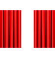 red curtain on theater or cinema stage on white vector image