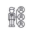 referralsaffilate marketing line icon