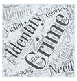 reporting identity theft Word Cloud Concept vector image vector image