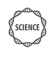 Round logo DNA science vector image vector image