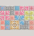 Seamless patchwork tile with victorian motives