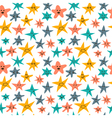 seamless pattern with cute smiley stars Abstract vector image