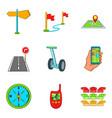segway icons set cartoon style vector image vector image