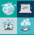 set of digital technology banners vector image