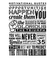 Set of Retro Vintage Motivational Quotes vector image vector image