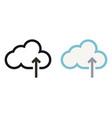 simply cloud storage minimal icon vector image vector image