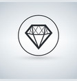 solid icons for diamond icon vector image vector image