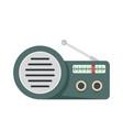 speaker radio icon flat style vector image vector image
