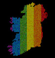 spectrum dotted ireland island map vector image vector image