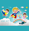 superhero kid isolated on background vector image vector image