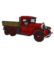 the vintage red truck vector image vector image
