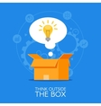 thinking out box concept background vector image
