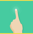 touch screen finger icon finger to touch screen vector image vector image