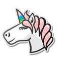 unicorn emoji sticker vector image