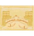 Venetian gondola retro style card vector image