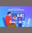 video conference 08 vector image vector image