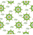 wheel pattern green yellow vector image vector image