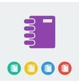 notebook flat circle icon vector image