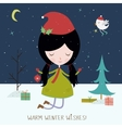 Winter holiday background or card vector image