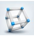 3d cubes with connections vector image vector image