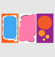 a set of templates for instagram stories modern vector image vector image