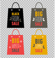 advertising shopping bags big winter sale vector image vector image