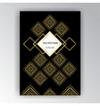 art deco template golden-black vector image vector image