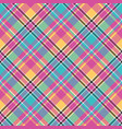 baby color plaid seamless pattern vector image vector image