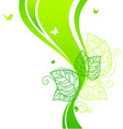 back doodle floral green vector image vector image