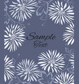 background of white flowers and leaves vector image vector image