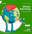 banner design global warming vector image