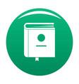 book encyclopedia icon green vector image vector image
