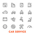 car service thin line icon for auto repair station vector image vector image